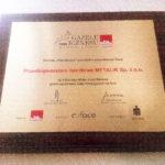Prestiżowa nagroda – Gazela Biznesu 2016 – dla firmy P. H. METALIK Sp. z o.o.!!!